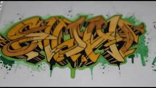 How to draw graffiti name - Como dibujar graffiti (