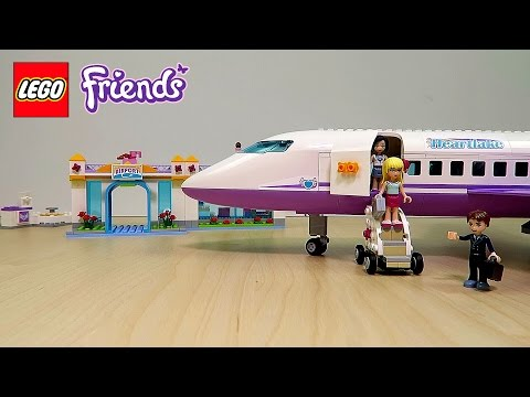 Lego Friends Airplane and Airport Playset UNBOXING AND PLAYING FUN Toy Video for Kids Girls