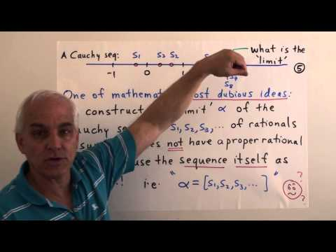 MathFoundations111: Real numbers and Cauchy sequences of rationals I