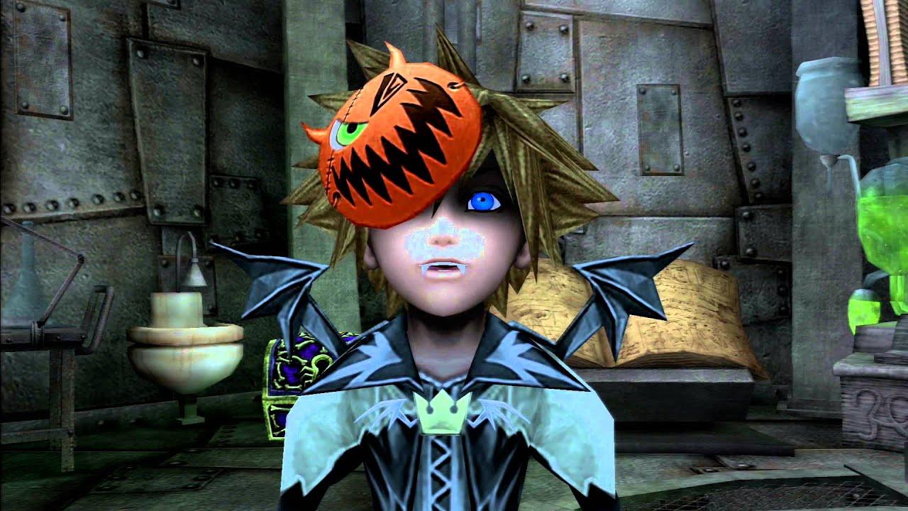 Sora Kingdom Hearts Lineart : Kingdom hearts ii fm ps playthrough halloween town a