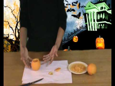Decoracion para halloween calabaza de naranja youtube - Calabazas decoradas para halloween ...