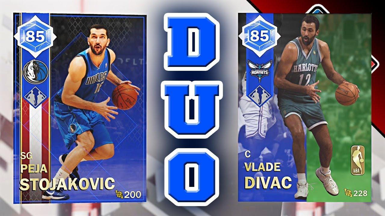 NBA 2K18 MyTEAM Dynamic Duo RATINGS - Sapphire PEJA STOJAKOVIC   Emerald  VLADE DIVAC f698337f5
