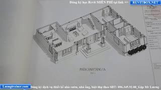 Mẫu Biệt Thự 2 Tầng Đep Tại Thái Bình Làm Bằng Phần Mềm Revit 2017-2018-2019
