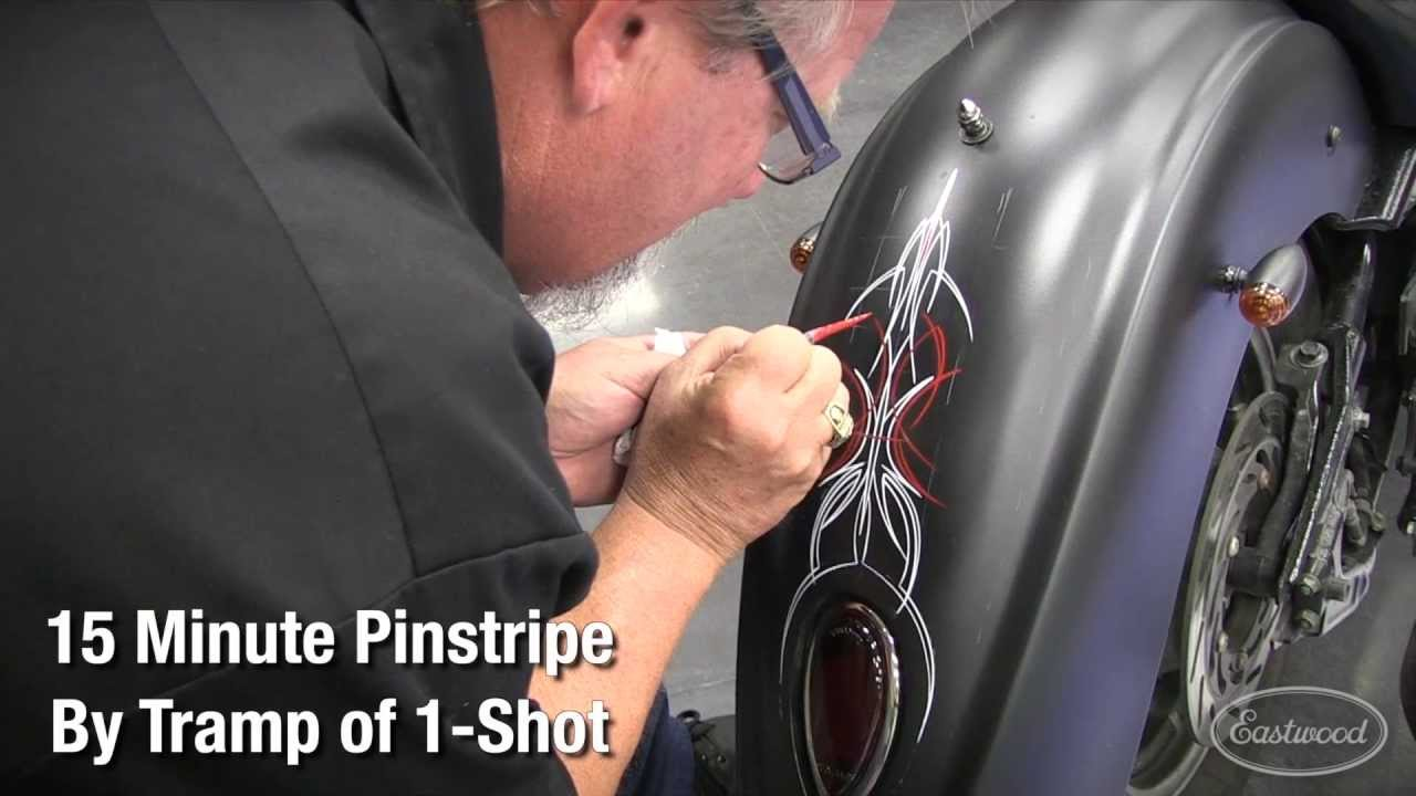 How To Pinstripe Like A Master With Pinstriping Pro Tramp Warner - Vinyl pinstripes for motorcycles