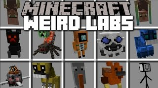 Minecraft WEIRD LAB EXPERIMENT MOBS MOD / PLAY WITH YOUR LAB AND SPAWN WEIRD MOBS!! Minecraft