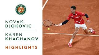 Novak Djokovic vs Karen Khachanov  - Round 4 Highlights I Roland-Garros 2020