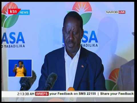 NASA flag bearer Raila Odinga makes statement on forms 34A from IEBC on election results