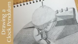 Pencil Drawing: Foucault Pendulum (pendulum clock)