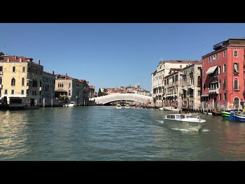 POV Shot Of Grand Canal  Stock Footage