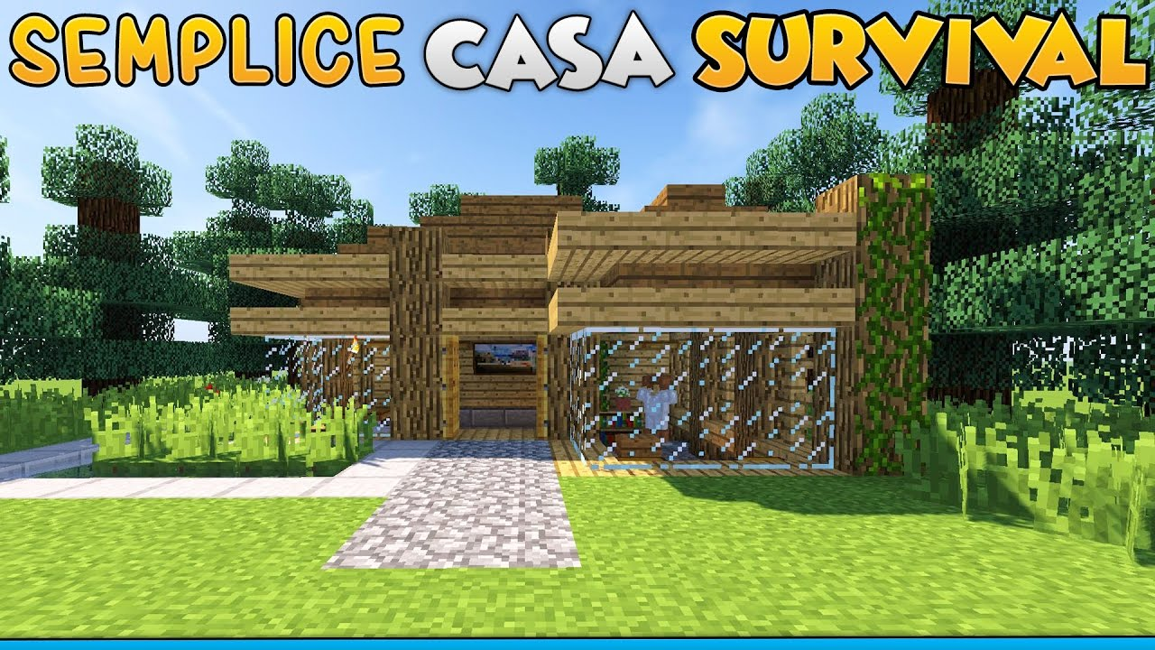Come costruire una semplice casa per il survival su for Come costruisco una casa
