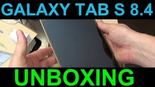 Samsung Galaxy Tab S 8.4  Unboxing - Powerful Tablet on Sale for great price