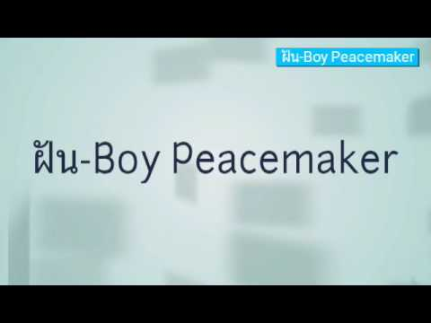 ฝัน-Boy Peacemaker ( lyrics video )