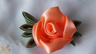 Fazendo esta linda flor de cetim em apenas 5 minutos com Elena Puzanova