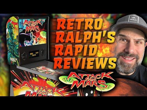 Arcade1up Attack From Mars Pinball - RAPID REVIEW! from Retro Ralph