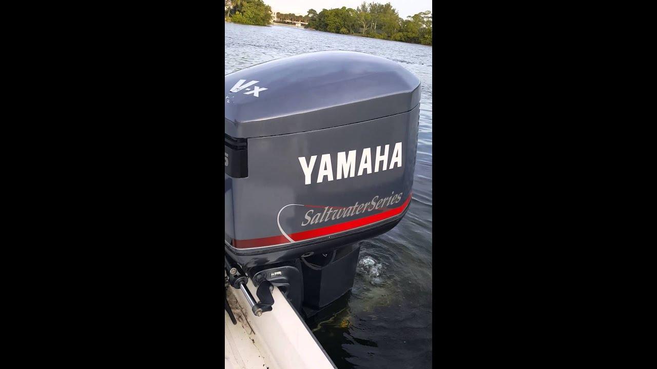 1996 yamaha v x salt water series 225hp 2 stroke youtube for Yamaha saltwater series ii