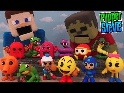 Retro Video Game FUNKO Pop Mystery Mini Blind Box Figures Pac Man, Q-bert, Mega Man Ms Pac
