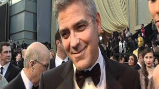 Oscars 2012: George Clooney Interview on the Red Carpet [HD]