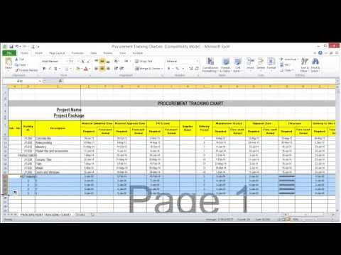 Lesson 7 part 4 Create procurement tracking log