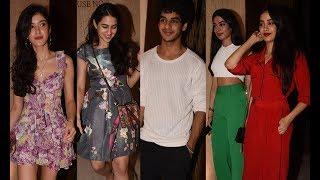 Bollywood Celebs At Late Sridevi Birth Anniversary Celebration At Manish Malhotra's Place