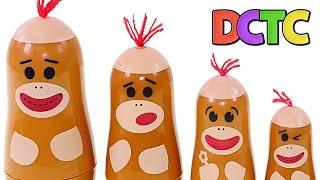 Sock Monkey Surprise Egg Nesting Cups - Toys Hello Kitty Shopkins Matryoshka Dolls by DCTC