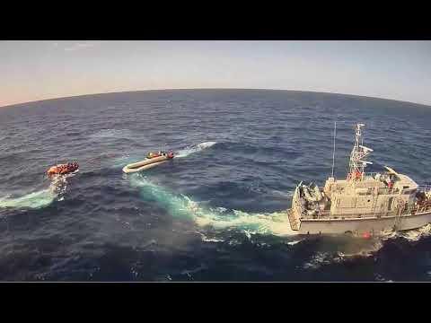 Libyan coast guards causing live threatening situation