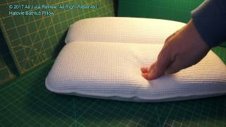 Halovie Bathtub Pillow with Strong Large Suction Cups - Product review