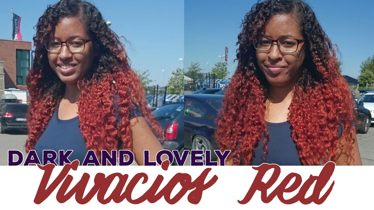 Dyeing My Hair With Dark And Lovelys Vivacious Red Youtube