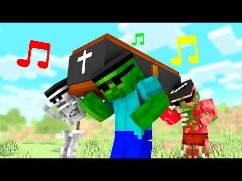Coffin Dance Meme in Monster School - Minecraft Animation