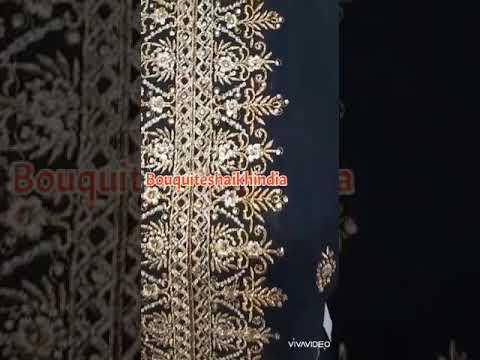 Black Color Anarkali Baju India Customer Order