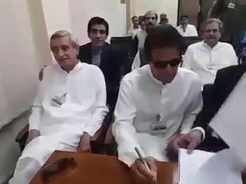 Finally Imran Khan appears in front on Election Commission of Pakistan