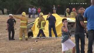 2 Die in Pick-up Crash / Sylmar   RAW FOOTAGE