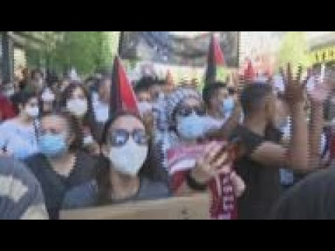 Israel / Palestine - Palestinians In WBank Protest Annexation Plans / Thousands Of Israelis Calling