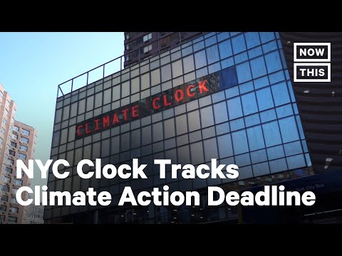 Climate Countdown Clock Unveiled in NYC's Union Square | NowThis