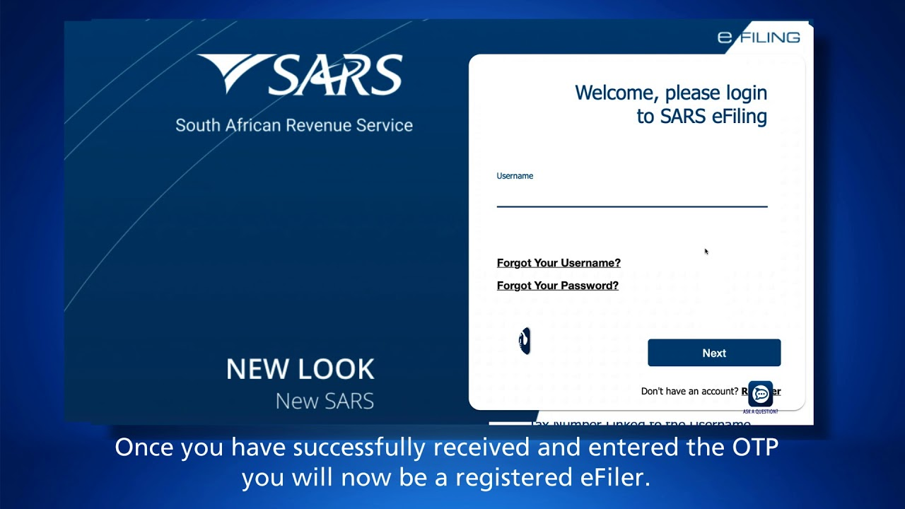 Sars Efiling How To Register Youtube