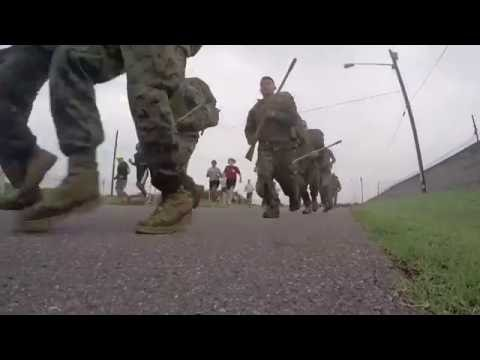 Marines in Honduras Run Five Kilometers with Packs