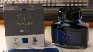 PARKER 57ml BOTTLE PERMANENT BLUE-BLACK QUINK