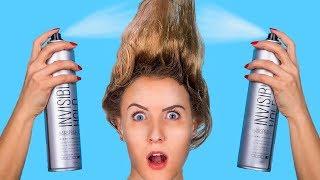 Проблемы коротких и длинных волос / Крутые лайфхаки для волос