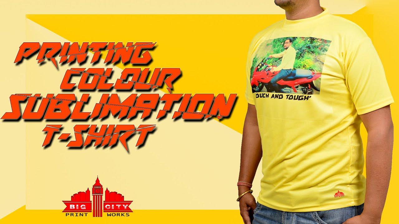Sublimation colour t shirt printing heat press machine for Colour t shirt printing