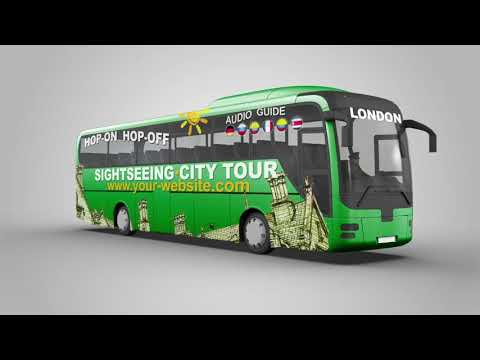 Sightseeing Tour Bus Mock Up After Effects Template From Videohive