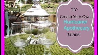 Diy: Create Your Own Hurricane/apothecary Glass   Asimplysimplelife