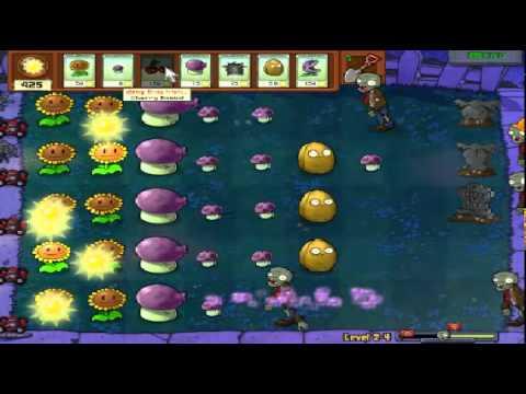 Plants vs zombies (Trồng cây bắn zombie) - Cấp độ 2-4 (Game Việt Hóa)