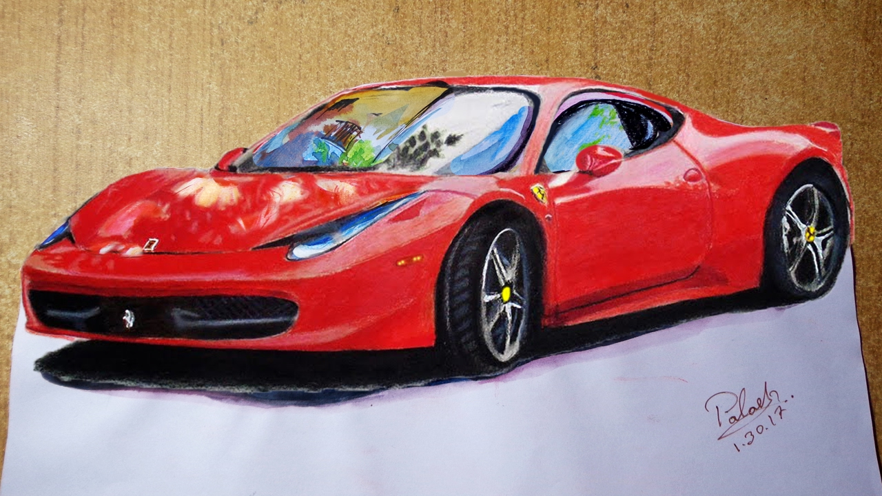 Draw a Sports Car : 3d Trick Art on Paper - YouTube