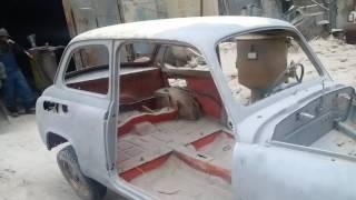 Пескоструй Заз 965 (результат)(Результат абразивоструйной очистки раритетного автомобиля ЗАЗ 965 (горбатый Запорожец) фирмой