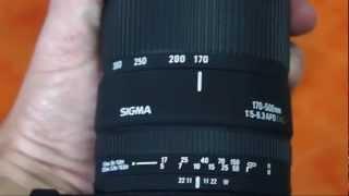 Objetivo telezoom Sigma 170-500 mm APO DG F5-6.3 para Canon Eos Digital