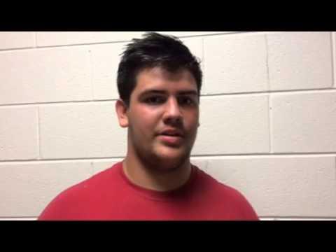 Portage offensive lineman Nick Johnson
