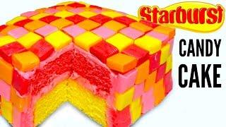 STARBURST CAKE - How To Make Starbursts Candy Dessert Cake