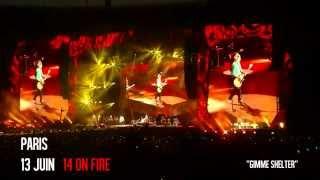 """""""Gimme Shelter"""" The Rolling Stones - Paris - Stade de France - 14 On Fire Tour - 13 juin 2014"""