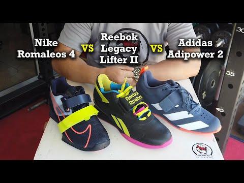 Nike Romaleos 4 vs Reebok Legacy Lifter 2 vs Adidas Adipower 2