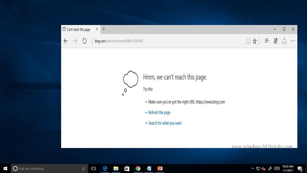 Fix Hmm We Can T Reach This Page Error In Microsoft Edge