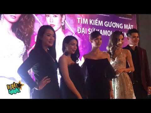 [8VBIZ] - Lâm Khánh Chi đọ dáng với hoa hậu chuyển giới Brasil, Thái Lan